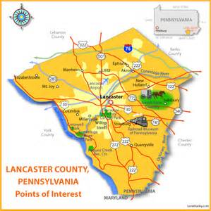 lancaster county point of interest map placescape