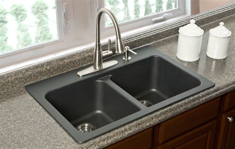 black composite granite kitchen sink home decor