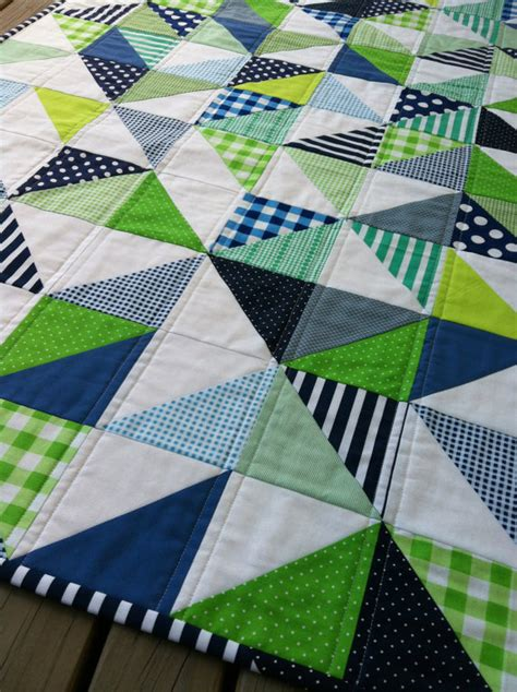 Cot Patchwork Quilt Patterns - pdf pattern for geometric modern cot crib patchwork quilt in