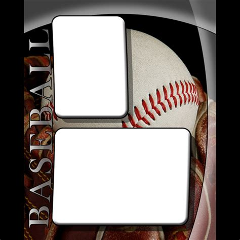 baseball card photo template free sports templates