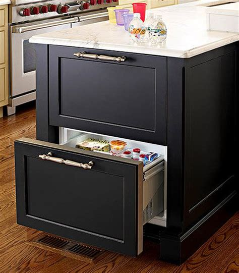 kitchen island with refrigerator refrigerator drawers inn kitchen