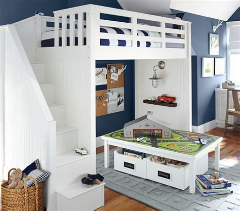 pottery barn kids loft bed catalina stair loft bed pottery barn kids