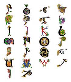 alphabet from the book of kells a pinterest