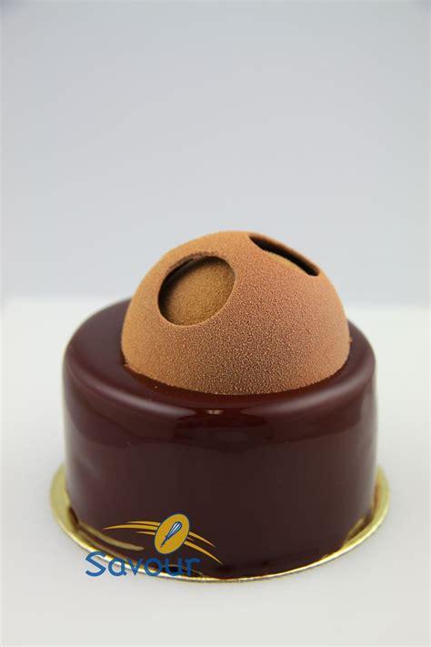 Petit Gateaux by A Chocolate Petit Gateau With A Dome Petitsgateaux