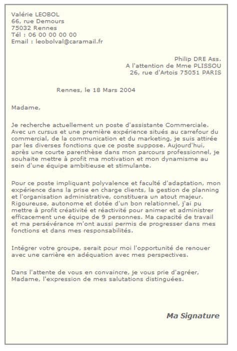 Lettre De Motivation Candidature Spontan E Pour La Mairie exemple lettre de motivation candidature spontan e gratuite