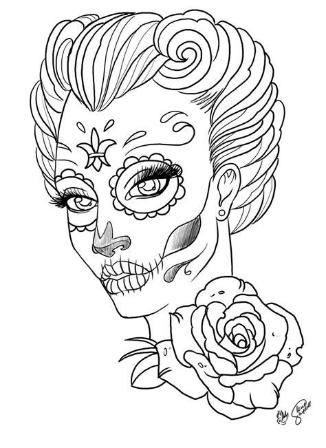 sugar skull lady lenaskydoll flickr