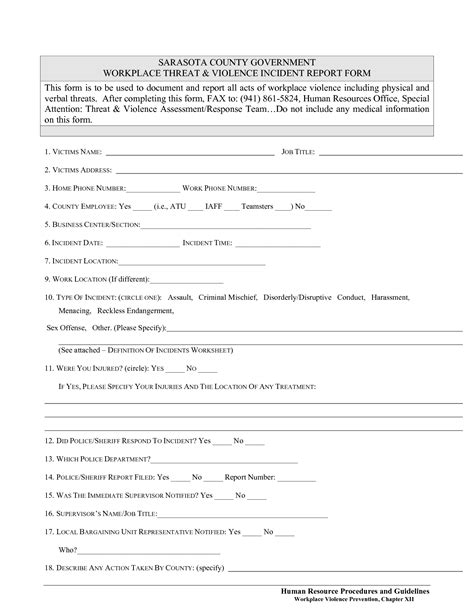 best photos of human resources incident report template