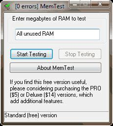 system ram test memtest v4 5 freeware afterdawn software