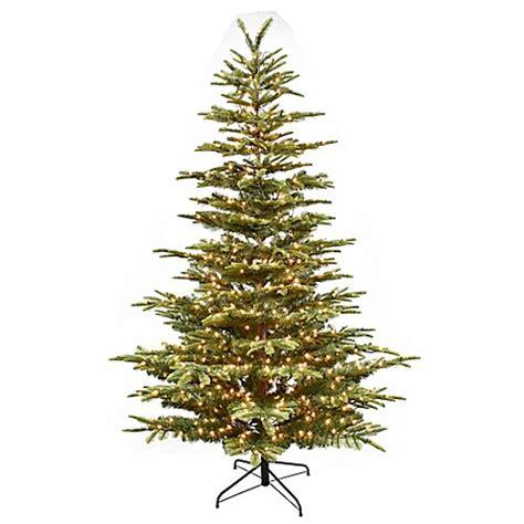aspen fir puelo international 7 5 foot aspen fir pre lit artificial tree with white lights bed