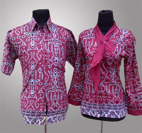 Baju Pakaian Murah Batik Azkana 2 kemeja seragam satuan contoh desain kemeja kerja