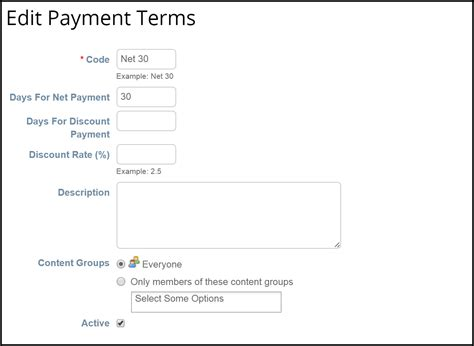 payment terms template invoice payment terms exle hardhost info