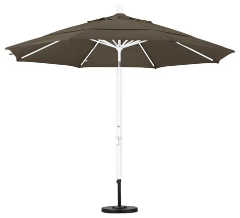 Outdoor Patio Umbrellas Sunbrella California Umbrella 11 Ft Aluminum Vent Tilt Sunbrella Market Umbrella Modern
