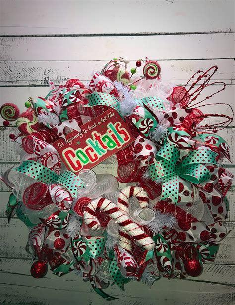 christmas wreath holiday wreath christmas door wreath