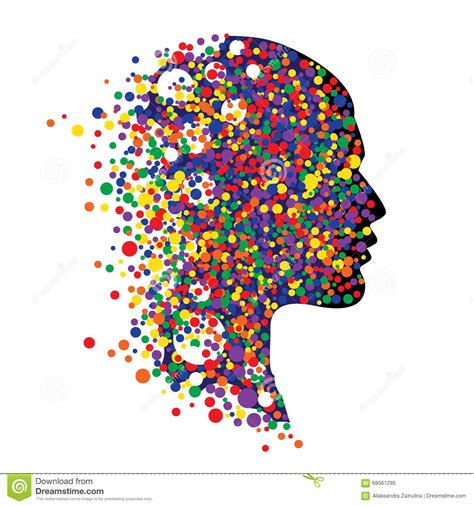imagenes abstractas de psicologia cabeza humana en blanco ejemplo abstracto del vector de la
