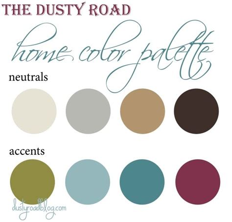 home decorating color palette for the home