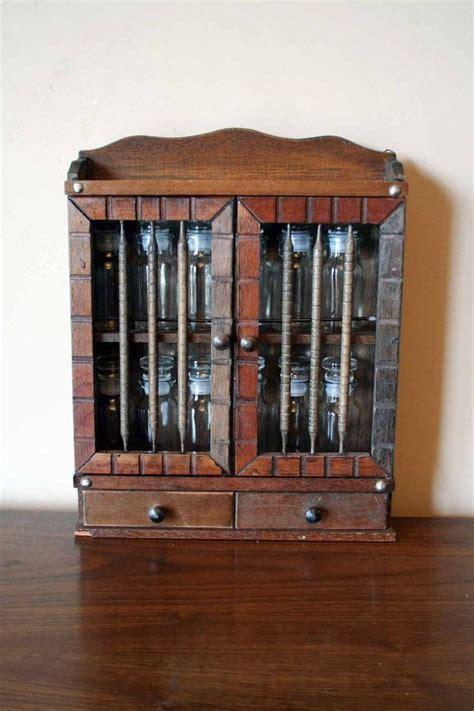 glass in a b label door vintage spice rack cabinet includes twelve 12