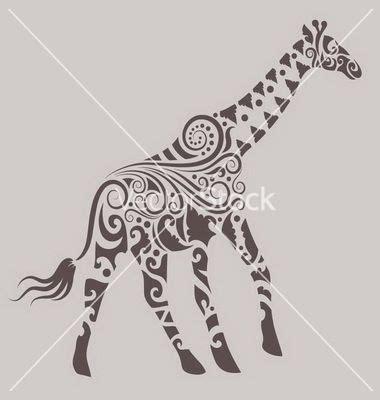 henna tattoo giraffe giraffe ornament vector by cundrawan703 image 985221