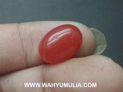 batu akik giok merah asli kode 567 wahyu mulia