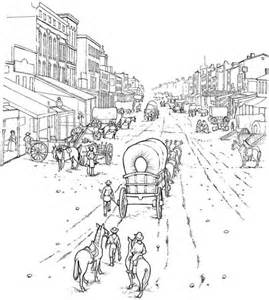 western coloring pages western coloring pages covered wagon coloring page