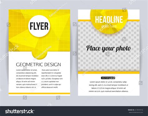 flyer and brochure templates abstract brochure design templates modern back and front