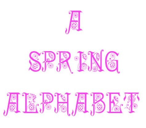 printable letters spring a to z kids stuff spring alphabet printable pages