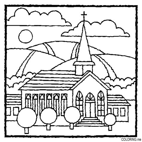 christian church coloring pages coloring page church coloring me