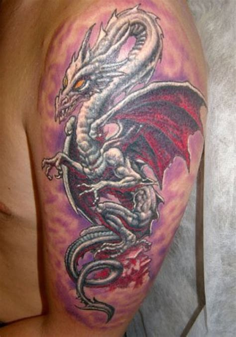 77 wonderful dragon shoulder tattoos