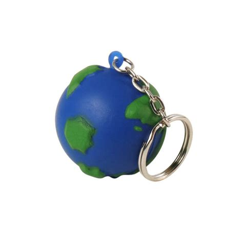 Earth Squeeze Blue squeeze earth globe stress balls custom printed save