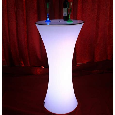 led light  rechargeable bar drink poser table