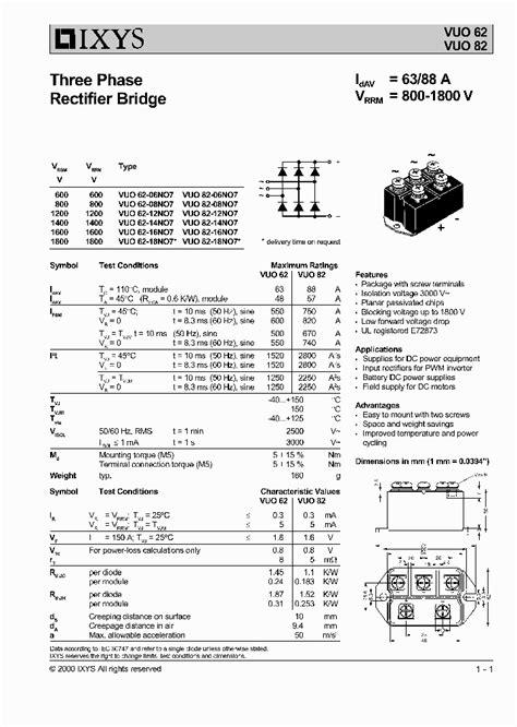 diode d3sba60 vuo82 16no7 430582 pdf datasheet ic on line