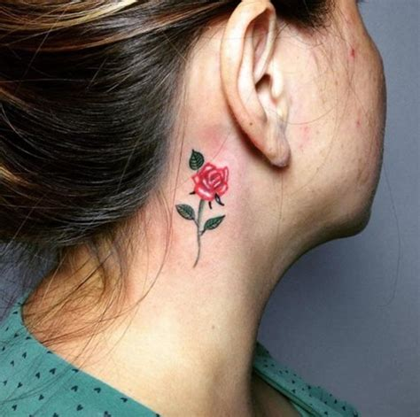 behind the ear rose tattoos listen up 90 unisex ear designs