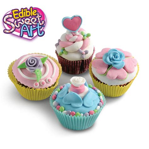 Edible Decorations For Cupcakes by Cupcakes Decorations Medium 12424 Edible Sweet