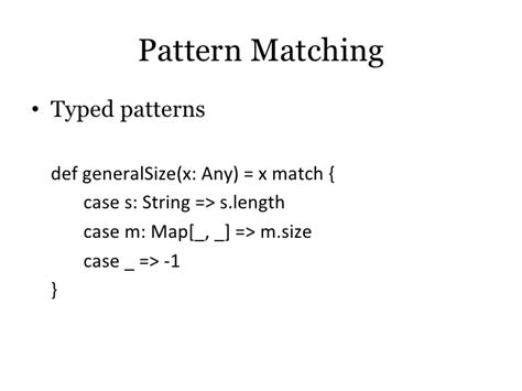 pattern matching scala string scala for java programmers