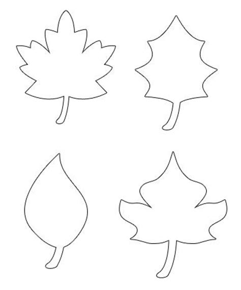 printable small leaves pumpkins leaf template and patterns on pinterest