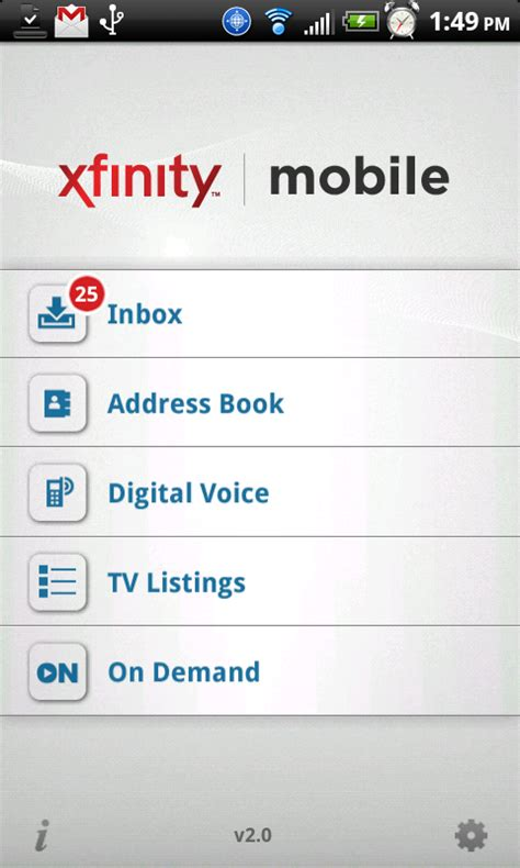 xfinity app for android comcast xfinity app for android is now available android central