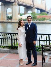 emmy rossum stuns in carolina herrera gown in new york