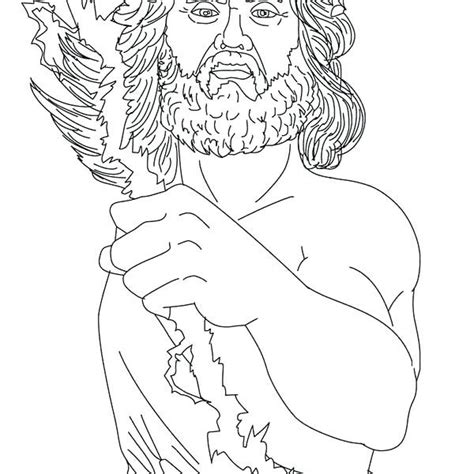 printable images of zeus simple zeus coloring page statue of 16334