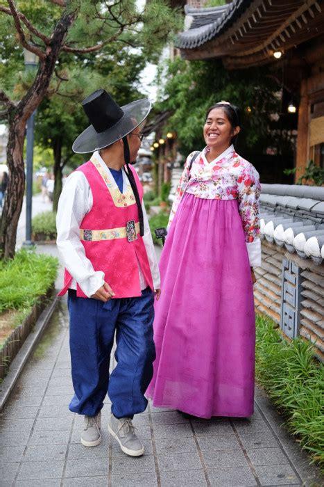 Baju Hanbok Korea 3 pakai baju hanbok tradisional korea di jeonju hanok