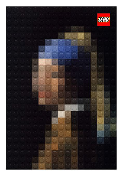 design milk lego table pixelated masterpiece paintings out of lego design milk