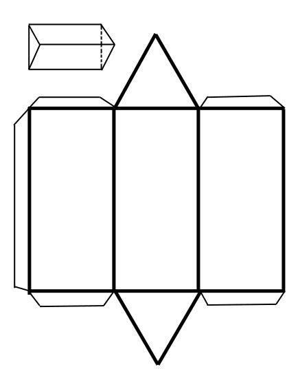 figuras geometricas recortables para armar recortables de figuras geom 233 tricas prisma triangular