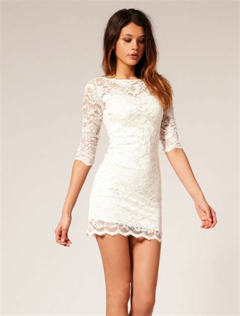 Basic Colour Dress aliexpress buy new arrival 2014 lace dress basic slim waist lace one white and
