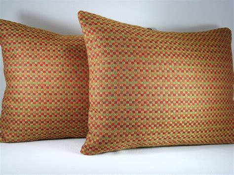 Lumbar Accent Pillow Decorative Pillow Lumbar Pillow Accent Pillow Woven Check