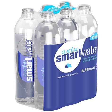 glaceau smartwater   ml water spring water