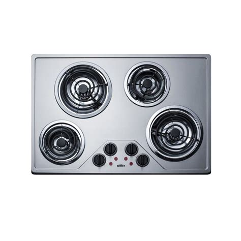 summit cooktop summit appliance 30 in coil stainless steel electric