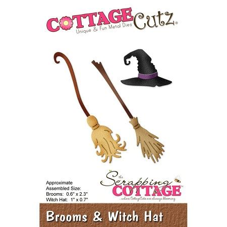 Cottage Cutz Dies Hat Box cottage cutz die brooms witch hat