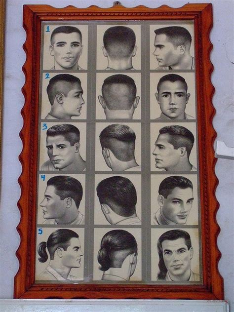 vintage haircut chart barber shop hairstyle chart instruct pinterest