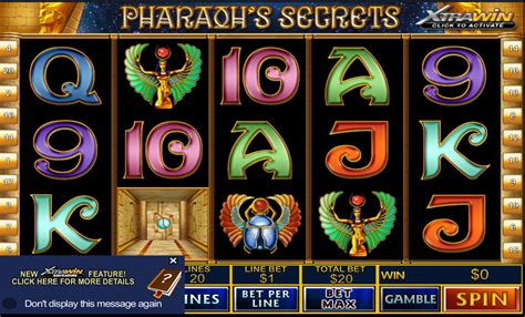 pharaohs secret slot machine  play
