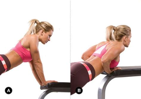 triceps on bench close grip push up on bench target muscles triceps
