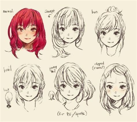 anime hairstyles ideas 128 best ideas about anime on pinterest hair reference