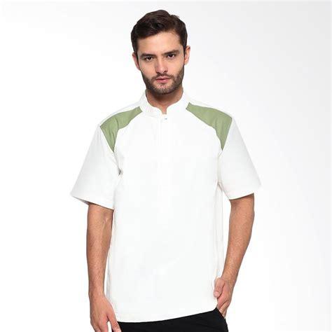 koko lengan pendek putih jual sha baju koko lengan pendek putih hijau